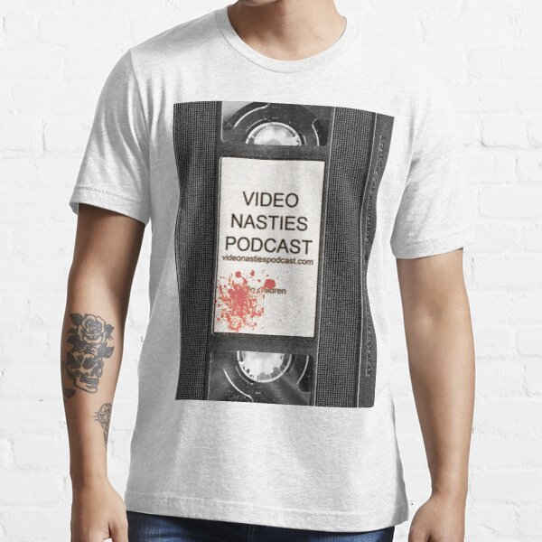 Video Nasties Podcast VHS Label Essential T-Shirt