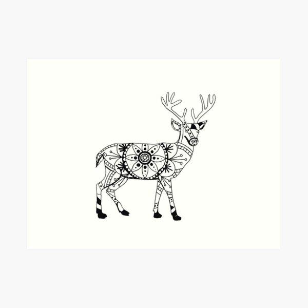 Stag Mandala Art Print