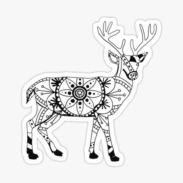 Stag Mandala Sticker