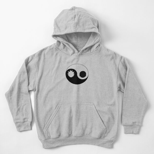 Yin Yang Rick and Morty Kids Pullover Hoodie