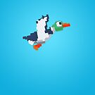 8-Bit Duck - Blue by nellyb