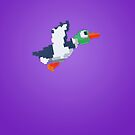 8-Bit Duck - Purple by nellyb