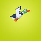 8-Bit Duck - Yellow by nellyb
