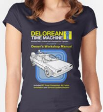 Time Machine Manual Women's Fitted Scoop T-Shirt