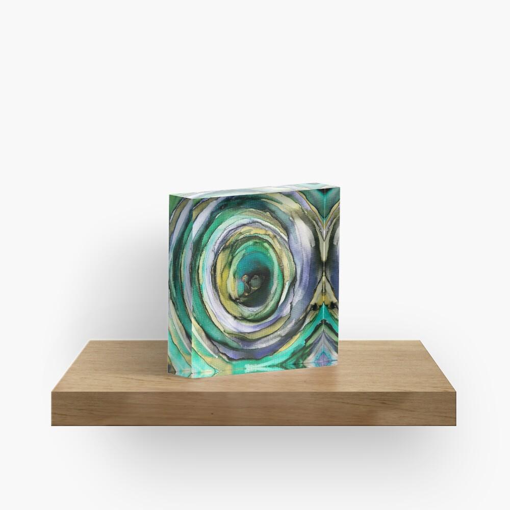 Wet Vortex Acrylic Block