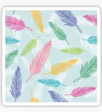 feathers pattern  Sticker