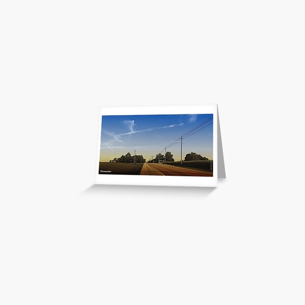 Between Field and Sky Greeting Card