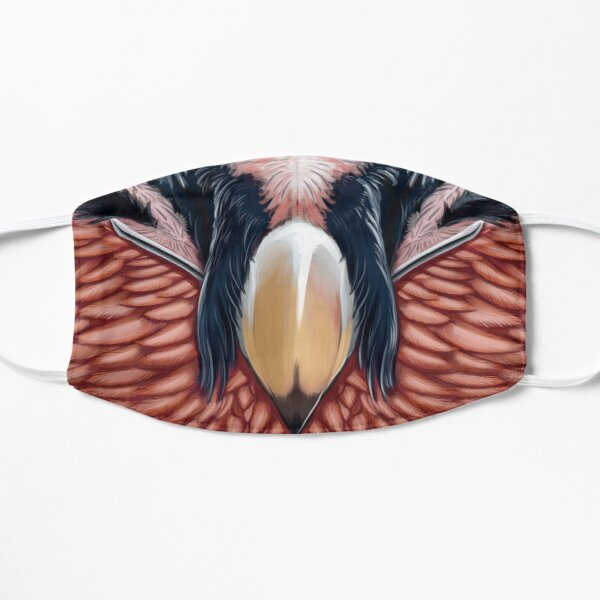 Bearded Vulture Facemask Flat Mask