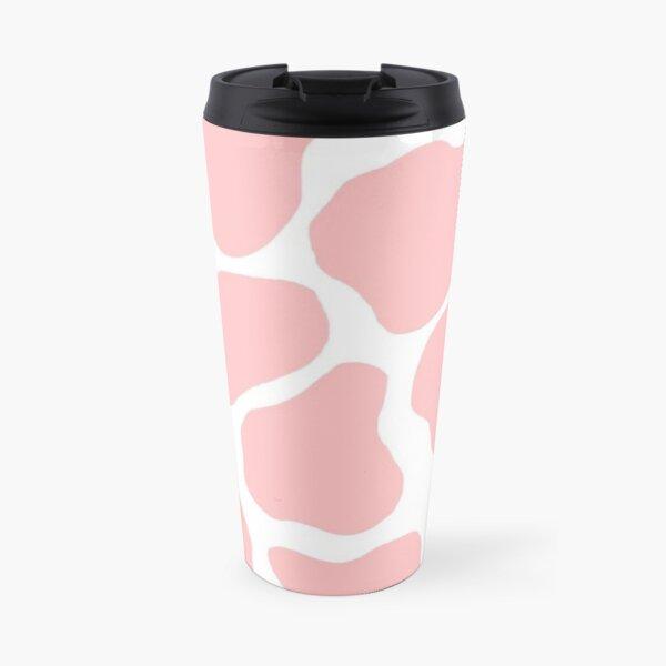 pink cow print  Travel Mug