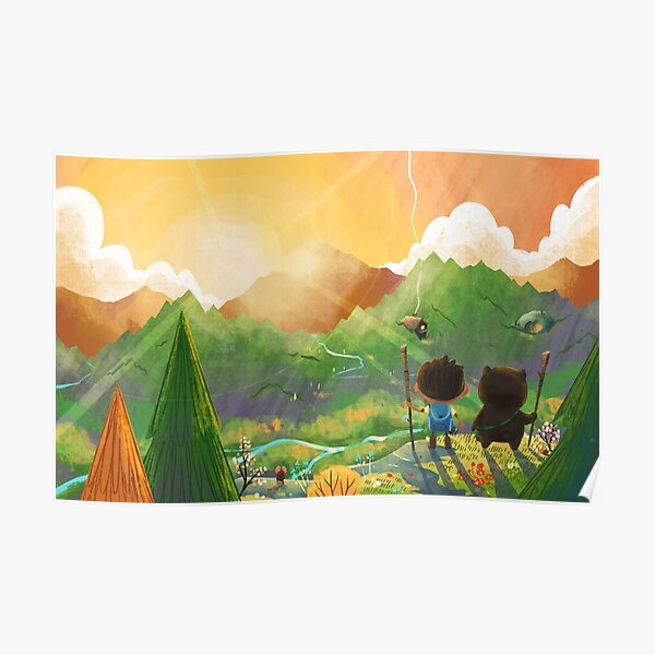 Explorers of the Wild - Overlooking their domain  Poster