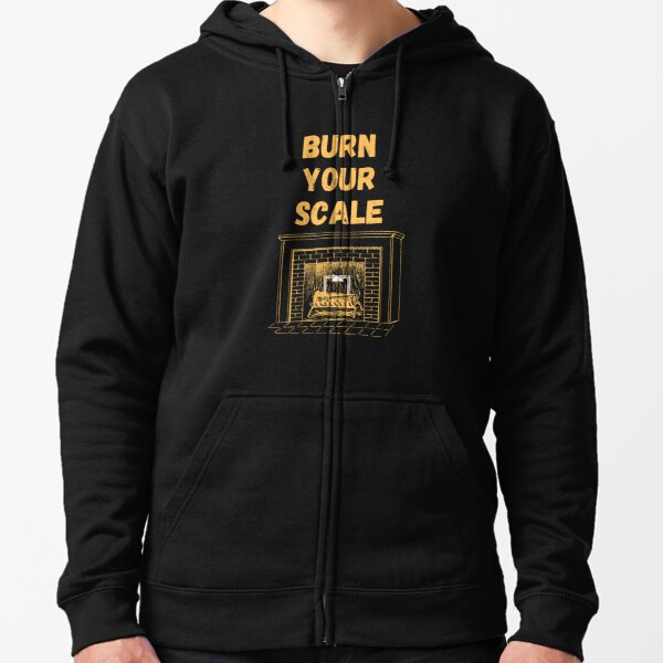 Burn Your Scale Fireplace Zipped Hoodie