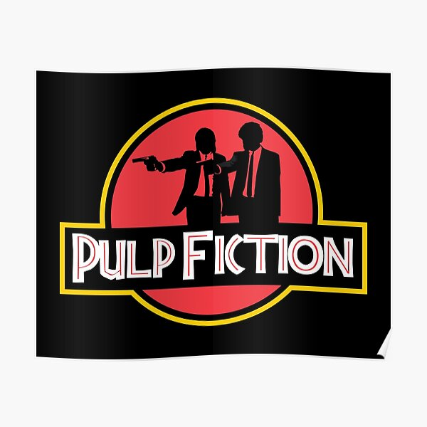 Jurassic Park Pulp Fiction Parody Poster