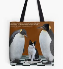 """""""THIS IS NOT JUNIOR - WHO IS THIS IMPOSTER?"""" (WITH SCRIPTURE) Always show the you in you that makes you the you that you are.  Tote Bag"""