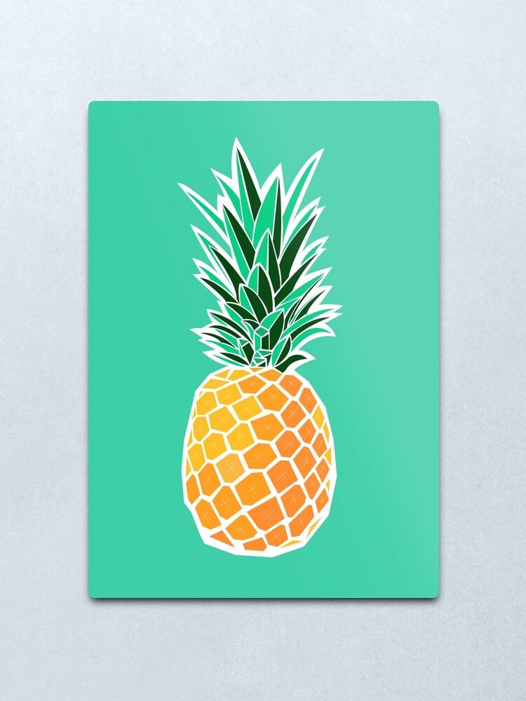 Alternate view of Pineapple Metal Print