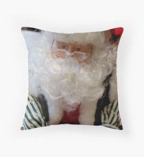 Santa Clause Writing A List And Checking It Twice Throw Pillow