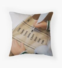 Santa Clause List Throw Pillow