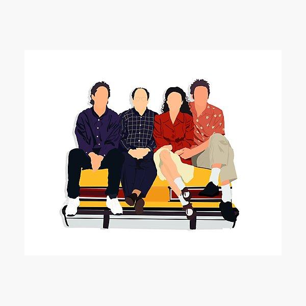Jerry, George, Elaine, and Kramer Photographic Print