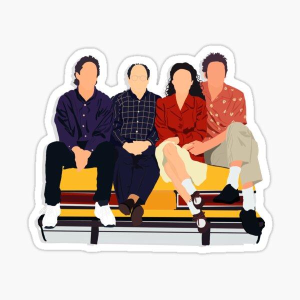 Jerry, George, Elaine, and Kramer Sticker