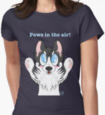 Paws in the air! Womens Fitted T-Shirt
