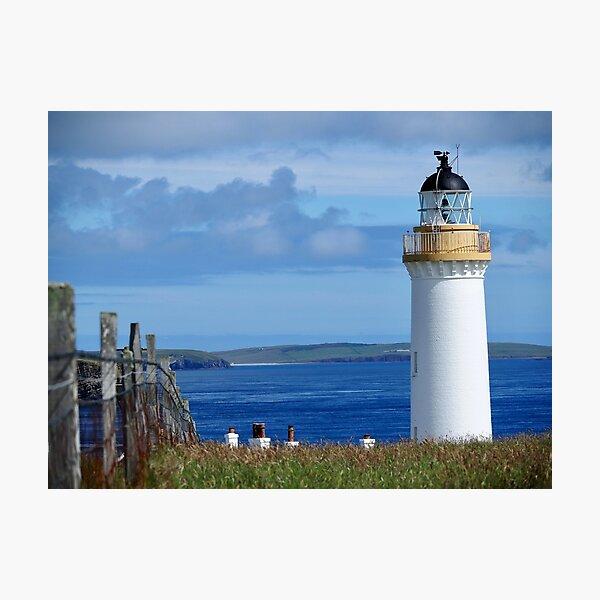 Cantick Head Lighthouse on Hoy Photographic Print