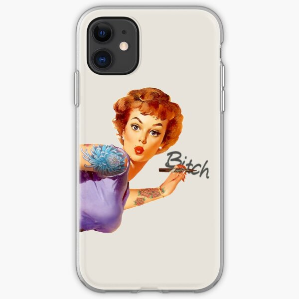 Redhead Pin-up iPhone Soft Case