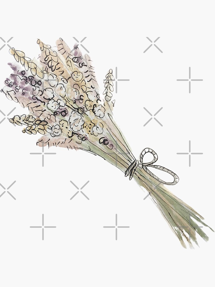 Lughnasadh Bouquet Illustration in Watercolor by WitchofWhimsy