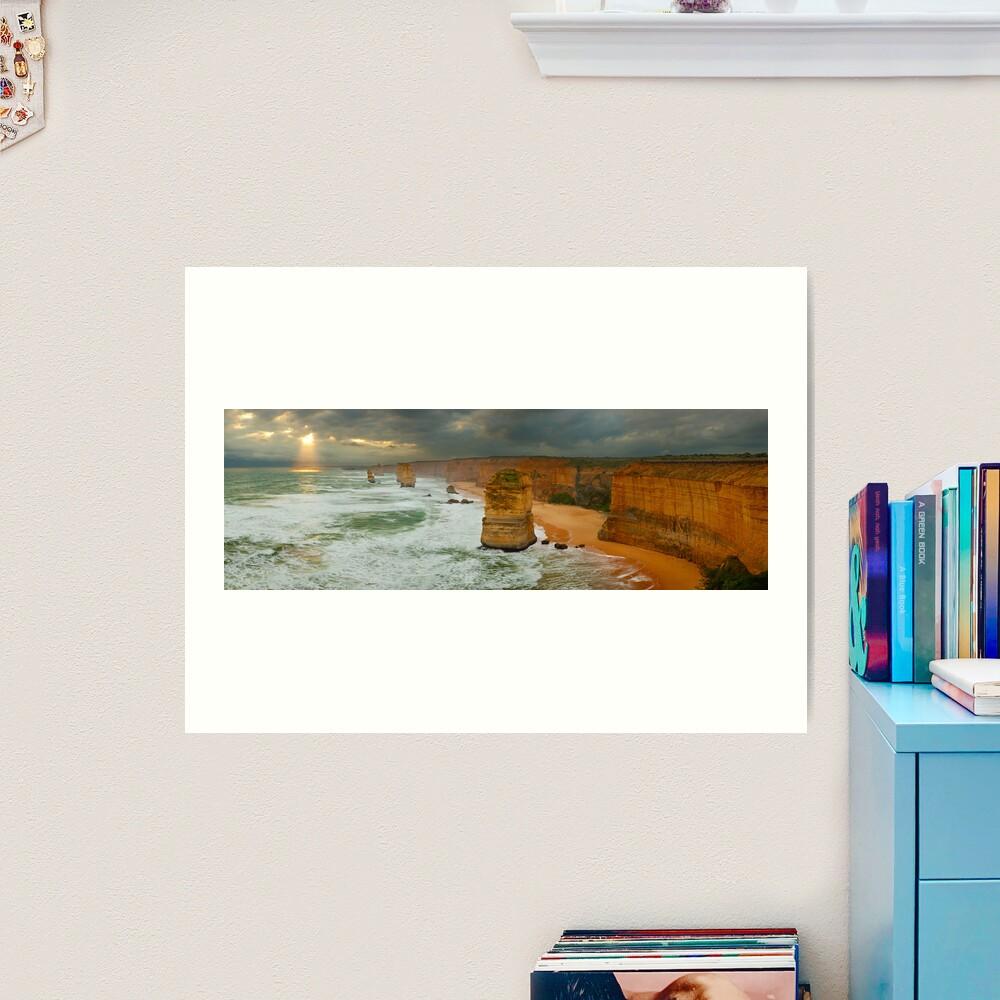 Stormy Twelve Apostles, Great Ocean Road, Victoria, Australia Art Print