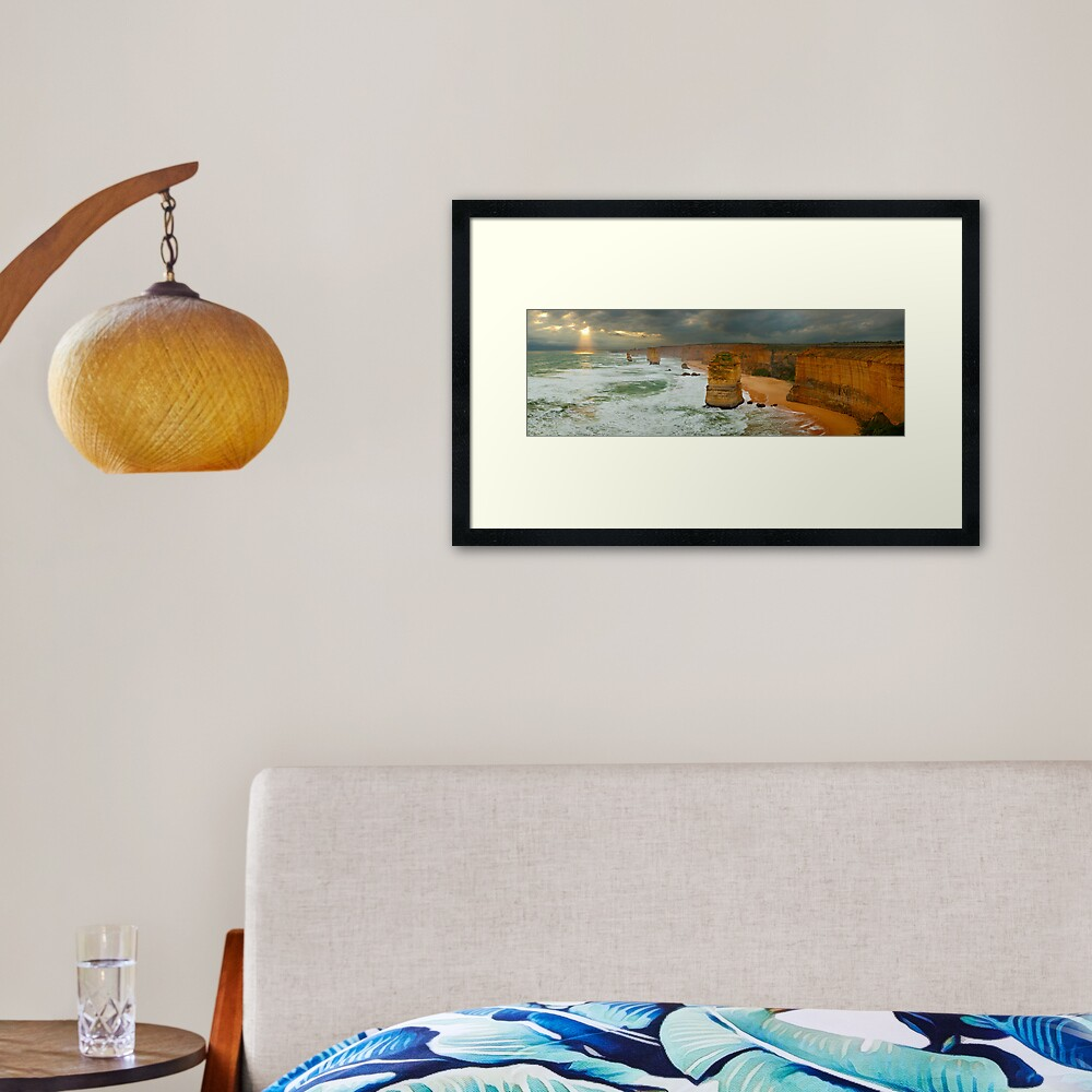 Stormy Twelve Apostles, Great Ocean Road, Victoria, Australia Framed Art Print