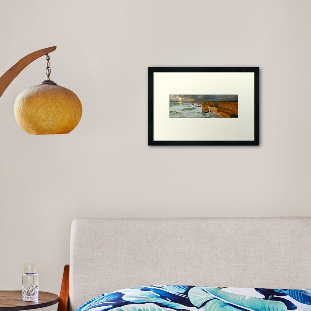 Stormy Twelve Apostles, Great Ocean Road, Victoria, Australia Framed Art Print
