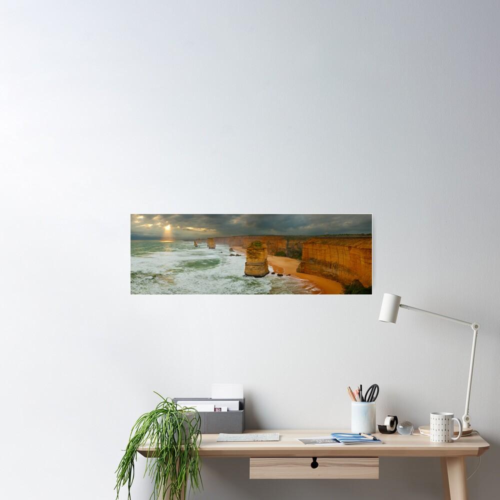 Stormy Twelve Apostles, Great Ocean Road, Victoria, Australia Poster