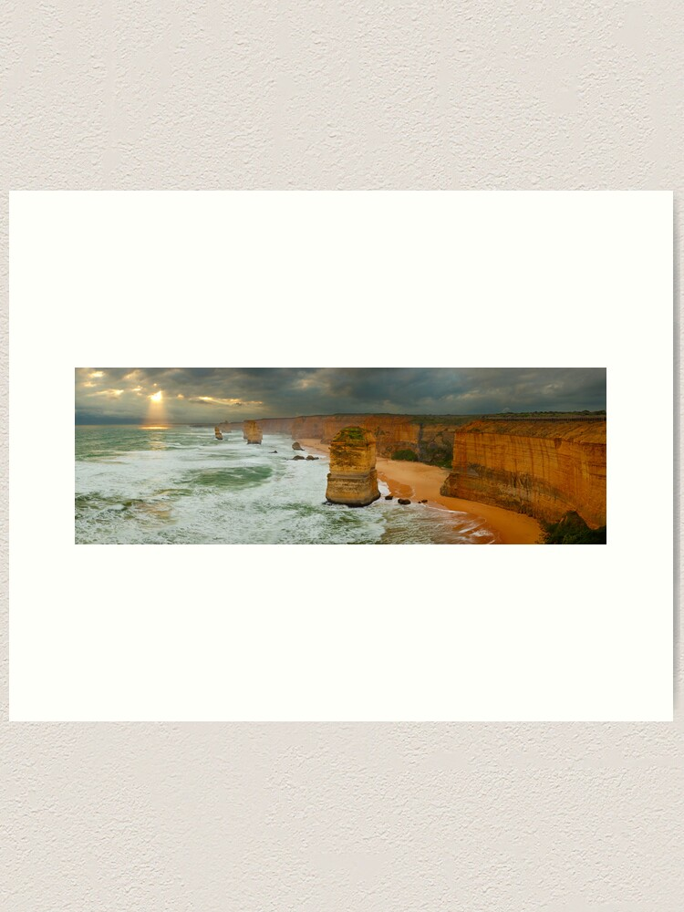 Alternate view of Stormy Twelve Apostles, Great Ocean Road, Victoria, Australia Art Print