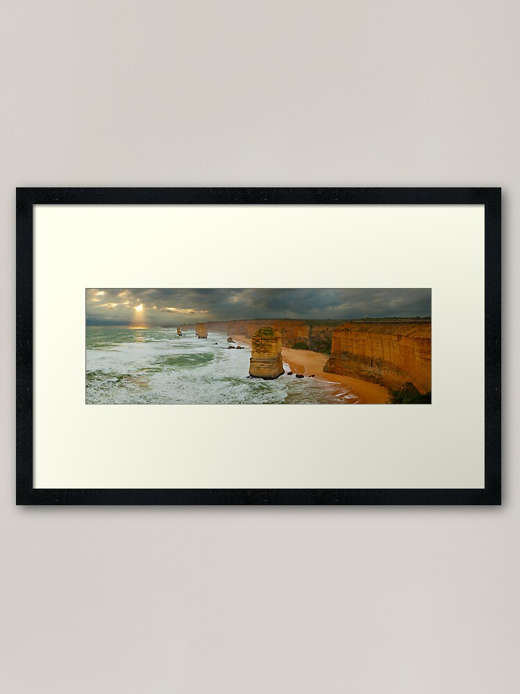 Alternate view of Stormy Twelve Apostles, Great Ocean Road, Victoria, Australia Framed Art Print