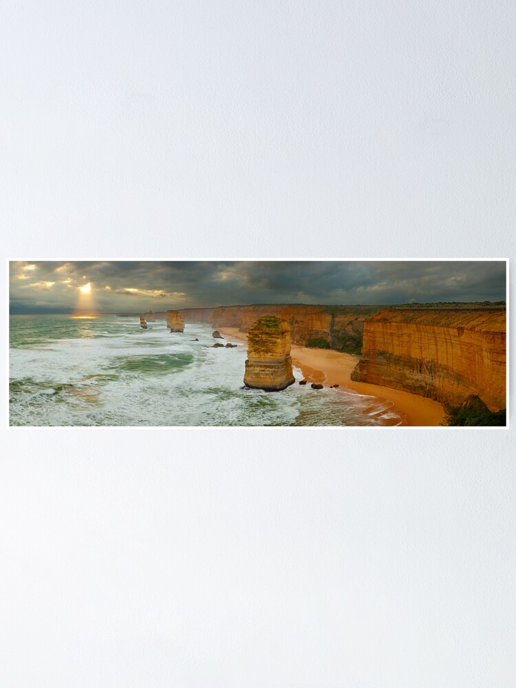 Alternate view of Stormy Twelve Apostles, Great Ocean Road, Victoria, Australia Poster