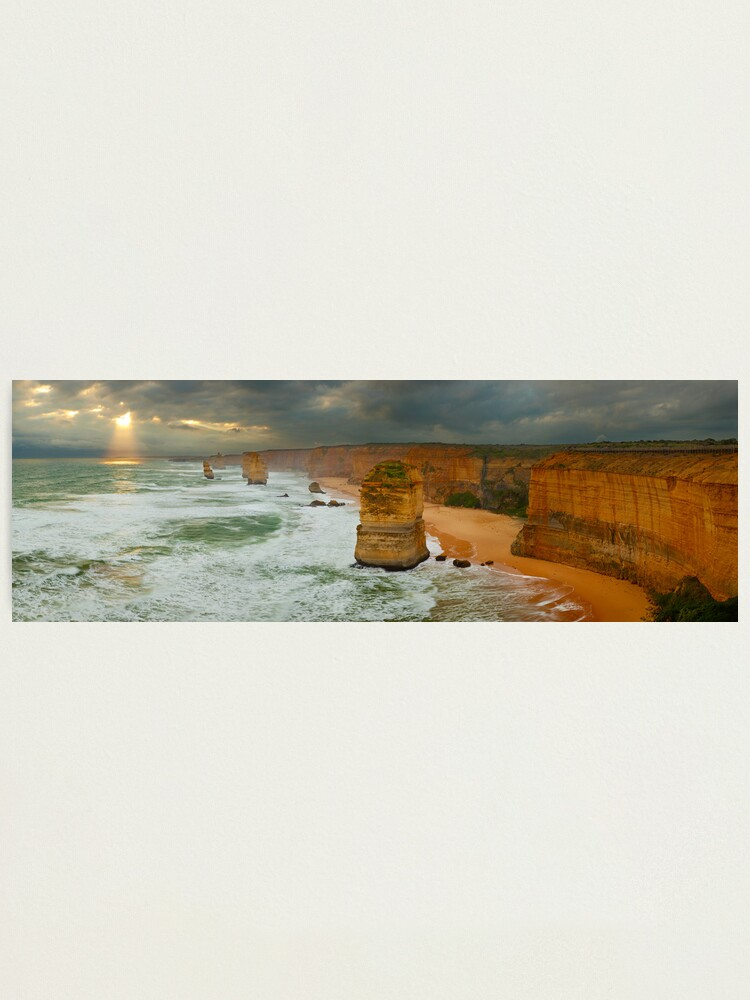 Alternate view of Stormy Twelve Apostles, Great Ocean Road, Victoria, Australia Photographic Print