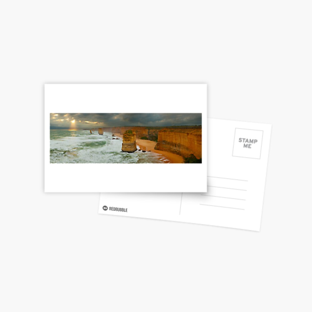 Stormy Twelve Apostles, Great Ocean Road, Victoria, Australia Postcard