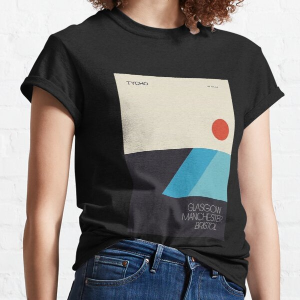 tycho poster tour illustration cyan blue red circle Classic T-Shirt