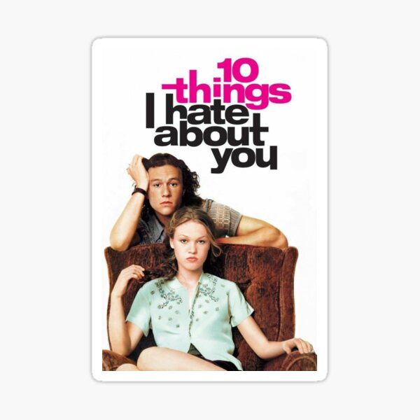 10 Things I Hate About You poster Sticker