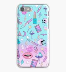 Girly Pastel Witch Goth Pattern iPhone Case/Skin