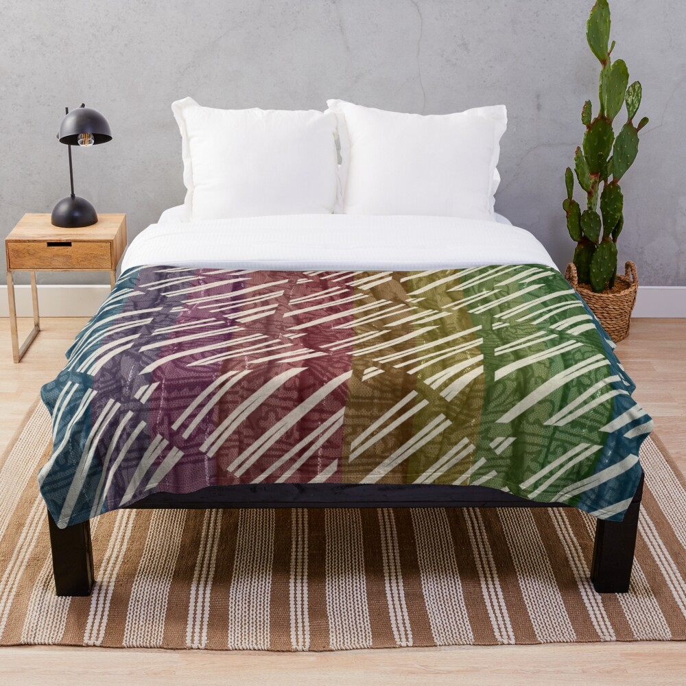 Colorful and Funky Stripe Throw Blanket