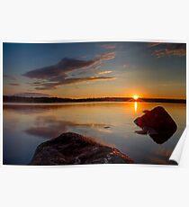 Brilliant Sunrise. Baxter Lake, NH Poster