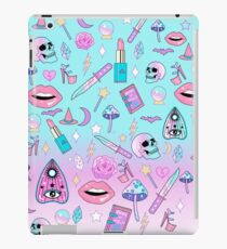 Girly Pastell Hexe Gothic-Muster iPad-Hülle & Klebefolie