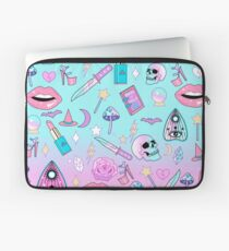 Girly Pastel Witch Goth Pattern Laptop Sleeve