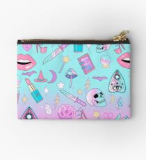 Girly Pastel Witch Goth Pattern Studio Pouch