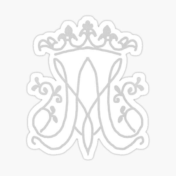 Ave Maria monogram Sticker