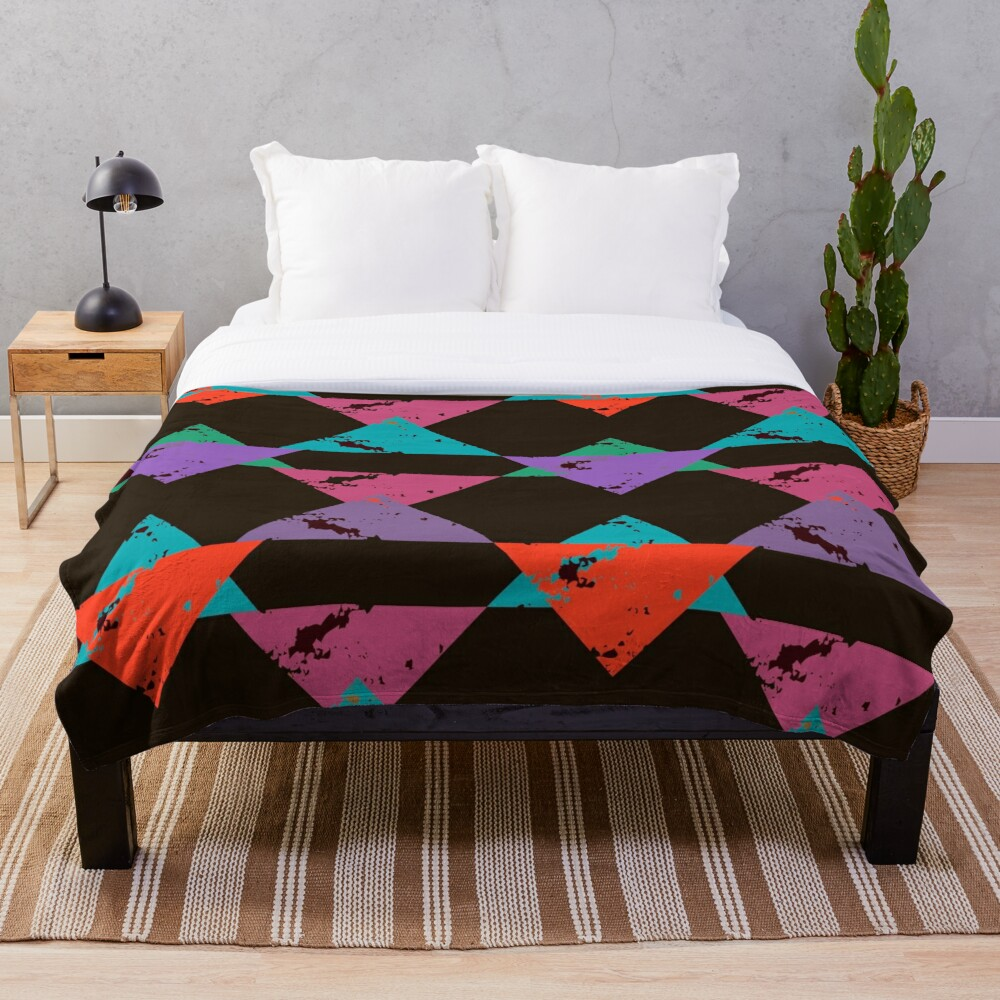 Fun Edgy and Cool Art Deco Pattern Throw Blanket