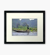 Lone man ! Framed Print