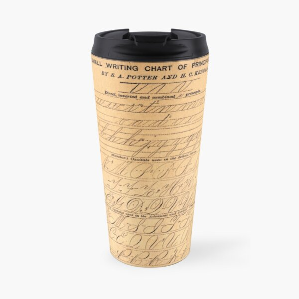 P+H's Small Writing Chart of Principles and Letters Travel Mug