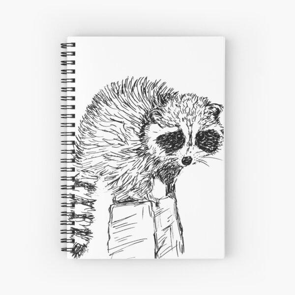 Raccoon Sketch Spiral Notebook