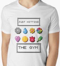 Pokemon hitting the gym Men's V-Neck T-Shirt