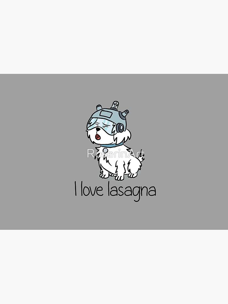 """I Love Lasagna"" Snuffles - Rick and Morty by RoserinArt"